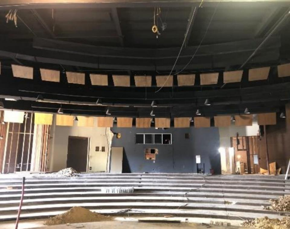 PAC renovation – Seats in the theater from the stage. (1)
