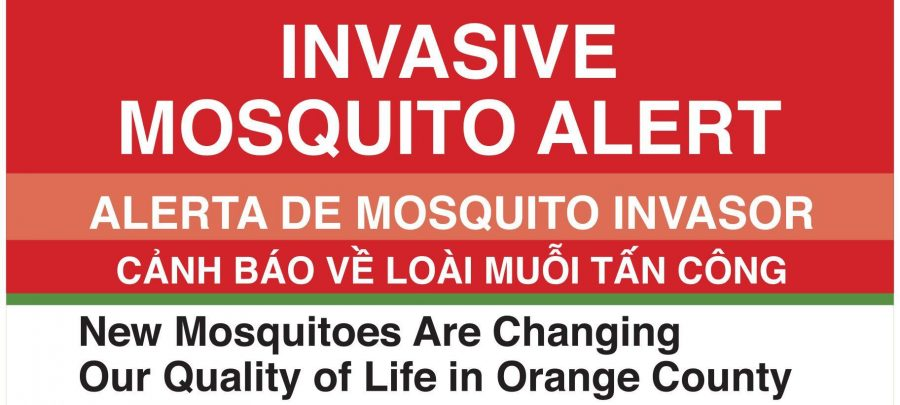 The Orange County Mosquito and Vector Control District has been notifying the public about the new species of mosquitoes that have been spotted throughout the county.