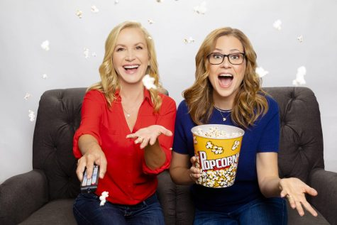 Angela Kinsey (left) and Jenna Fischer will start a new podcast Oct. 16 bringing fans behind-the-scenes details from their former NBC TV show,