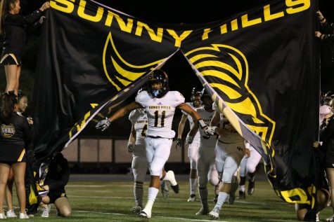 The Sunny Hills football Lancers will introduce themselves for one last time for the 2019-2020 season during their CIF Southern Section Division 8 away championship game Nov. 30 against Santa Barbara High School. But because Santa Barbara's home stadium remains closed for modernization, the game has been moved to San Marcos High School in the Santa Barbara school district. Photo taken by Paul Yasutake