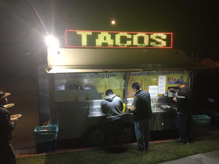 Tacos Maggie in Buena Park lets the food do the talking, not the design of the truck, as it beats out two other local food truck eateries in North Orange County. Photo taken by Accolade assistant news editor Elijah Jhee.