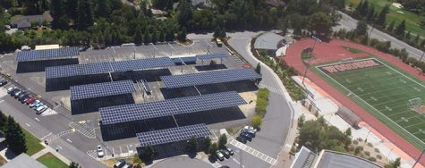 The Fullerton Joint Union High School District has contracted with San Diego-based Borrego Solar Systems Inc. to install solar shade structures like those pictured above in various parking lots at each of the district's school sites. The solar panel-roofed carports will be built on the Sunny Hills High School parking lot near the Performing Arts Center by the middle of 2021. Image posted with permission from Borrego Solar.