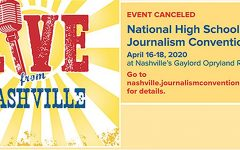 Upon sending out emails to journalism advisers the morning of March 17, the National Scholastic Press Association uploaded this image on its spring convention page further notifying visitors to the website of the event's cancellation. Sunny Hills yearbook adviser Lindsay Safe was among those who had registered to attend the venue. Image posted with permission from Ron Johnson.