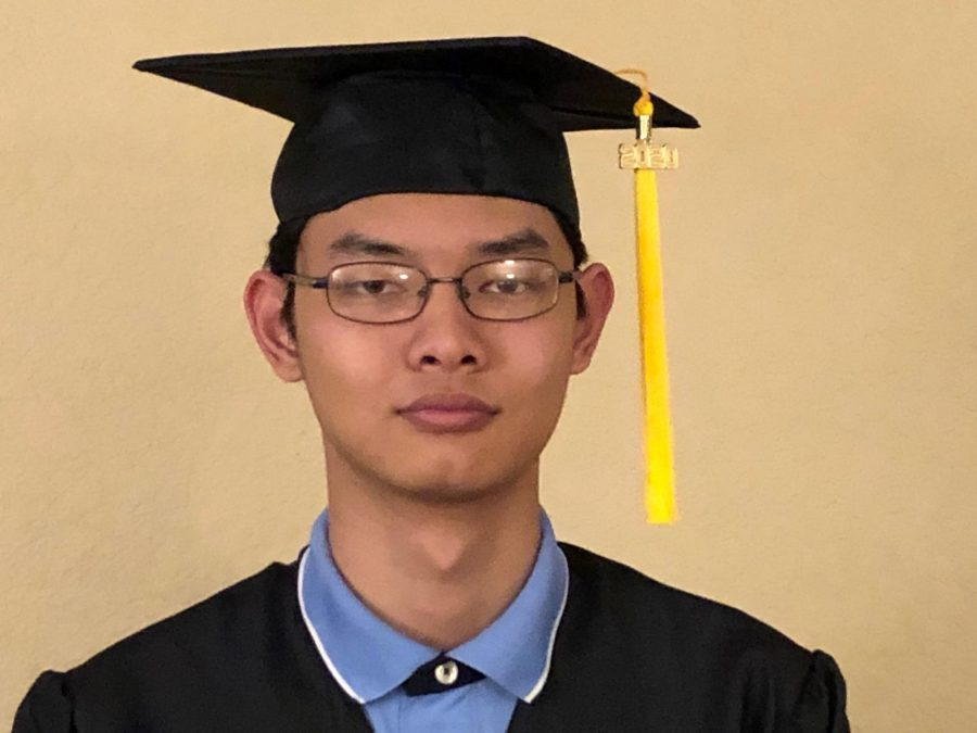 Senior Michael Jiang is one of the 12 valedictorians for the class of 2020 amid the COVID-19 pandemic. Image used with permission from Michael Jiang.