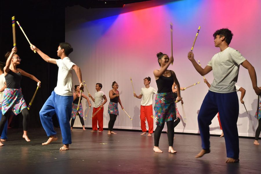 Bayanihan Club members perform one of their classic routines during a March 11, 2017, Pilipino Culture Night. This year's April 18 event would have featured a similar performance if it didn't get canceled because of school closure stemming from the COVID-19 pandemic. From The Accolade photo file