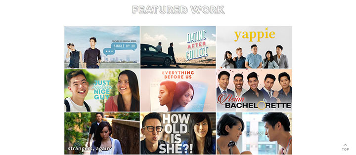 Founded in 2003, Wong Fu Productions has posted several of its video shorts about Asian-American culture and identity for viewing on its featured works page.
