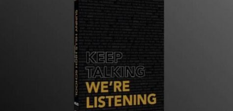 "Though the 2019-2020 yearbook will not be distributed until June, Helios released an image of what the front cover looks like in a 77-second theme-release video posted April 24 on the publication's YouTube channel and Instagram account. The ""Keep Talking We're Listening""-themed book faced a delay in printing because the publishing company had to shut down from late March to early May in response to the state's guidelines for non-essential businesses to close to slow the spread of the COVID-19 pandemic."