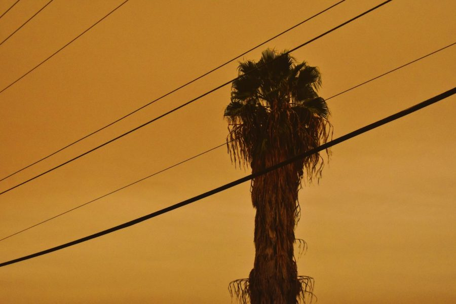 The El Dorado wildfire worsened air conditions across the Los Angeles metropolitan area and caused this orange-tinted sky on Sept. 9.