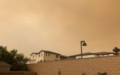 Dark smog creeps into Buena Park's orange-tinted skies on Sept. 9