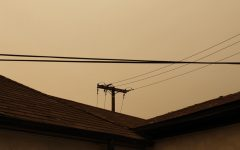 The outcome of the El Dorado wildfire greatly affected the air quality, and as a result the sky gleams brown in Fullerton on September 8.