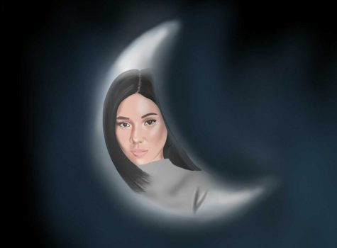 "A rendering of singer songwriter Nicole Zefanya, also known as NIKI, and her first studio album, Moonchild. NIKI creates not only the space-age Moonchild persona in her music videos of some of her initial releases from this 10-song album, but in one particular track, she takes on another persona in ""Selene."""