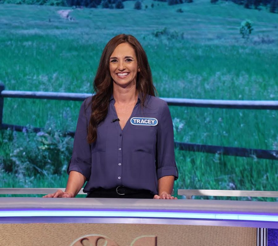 "Guidance counselor Tracey Falletta's Oct. 8 appearance on the TV game show, ""The Wheel of Fortune,"" nets her $22,900, which includes a trip to the Caribbean island of Saint Martin. Because of COVID-19 health and safety guidelines, no one was allowed to be in the audience during the show's Aug. 7 taping in Culver City."