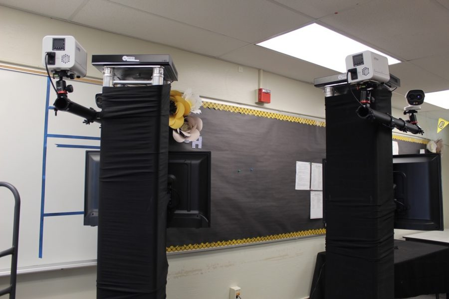 Currently being housed in the attendance office in Room 7, the two thermal cameras will be moved under the overhang at the entrance to the main hallway to Sunny Hills Nov. 2, when students and staff will be allowed to return to campus for live classroom instruction as part of the hybrid learning model. The Fullerton Joint Union High School District paid $15,000 for each camera, which will be used to help school officials to easily check the temperatures of students as they arrive on campus.