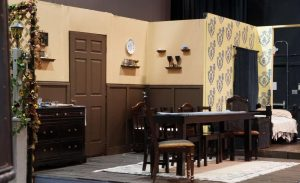 Seventh period theater tech students put together stage sets like this one from the 2019 spring play,