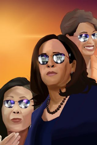 Female politicians like Michelle Steel (left), Kamala Harris (center) and Young Kim have all made strives toward becoming gender parity in the U.S. political system.