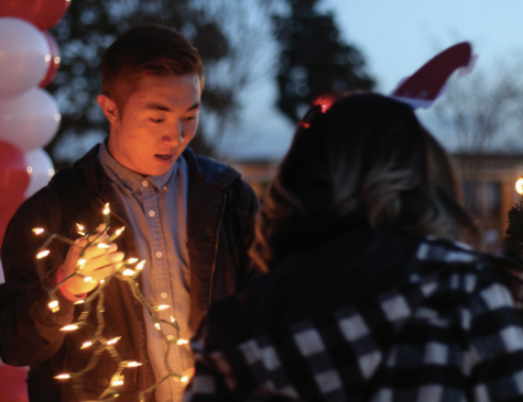 ASB students decorate the quad at the start of finals week in December 2015. Because of the coronavirus pandemic, the ASB will be unable to do so next week.