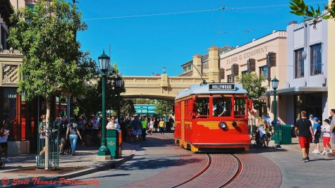 The Red Car Trolly transports guests up to Buena Vista Street at Disney's California Adventure in Anaheim, Calif.