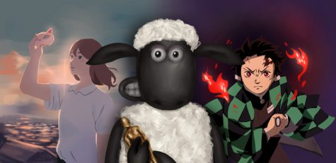 "An artist portrays some of the works eligible for an Oscar nomination for Best Animated Feature. The Academy Awards, however, snubbed Japanese works, ""A Whisker Away"" (left) and ""Demon Slayer: Kimetsu no Yaiba the Movie: Mugen Train,"" (right) but gave a nod to ""Shaun the Sheep the Movie: Farmageddon."""