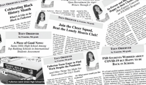 Freshman Francine Vudoti has racked up her collection of articles as the youth editor for the Fullerton Observer newspaper