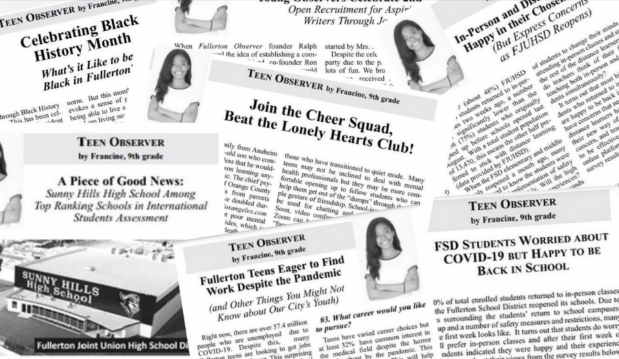 Freshman+Francine+Vudoti+has+racked+up+her+collection+of+articles+as+the+youth+editor+for+the+Fullerton+Observer+newspaper