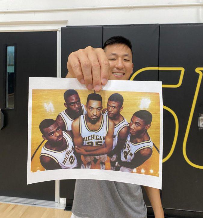 Girls basketball head coach Jae Byun shows the 1991 Michigan Fab Five, freshmen who reached an NCAA title game.