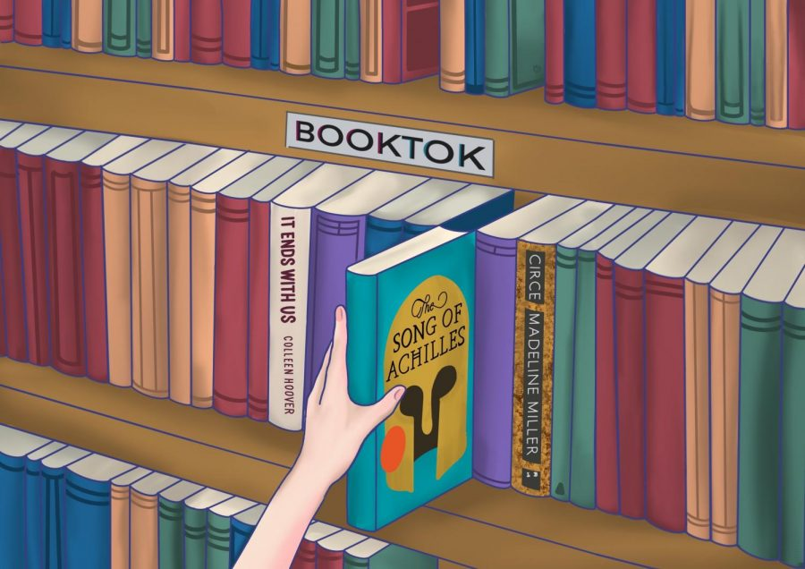 """""""BookTok,"""" a subsection of the popular social networking platform TikTok, leads to an increase in students' interest in books and reading."""
