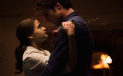 """Played by Joey King, Elle (left) shares an emotional moment with Noah, played by Jacob Elordi, in the final installment of the """"Kissing Booth"""" Netflix series."""