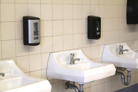 """Only one dispenser was stolen in the boys restroom in the 40s wing Sept. 13 as part of TikToks """"devious licks"""" challenge. School officials estimate the cost to replace it at $350."""